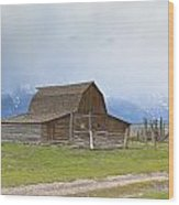 Little Mountain Barn Wood Print