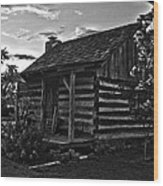Little Old Cabin Wood Print