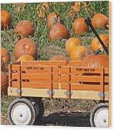 Little Orange Wagon Wood Print