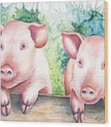 Little Piggies Wood Print