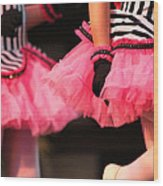 Little Pink Tutus Wood Print