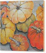 Little Pumpkins Wood Print by Hilda Vandergriff