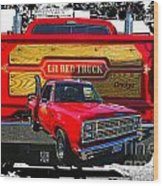 Little Red Express Dbl Hdr Wood Print