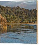 Little River Panorama Wood Print