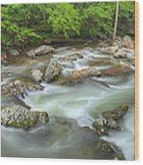Little River Rapids Wood Print