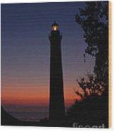 Little Sable Point Lighthouse After Sunset Wood Print
