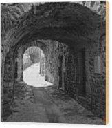 Little Street La Roche Alba Ardeche France Wood Print
