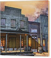 Little Town Wood Print by Joel Payne