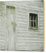 Little White Building Onaping Wood Print by Marjorie Imbeau
