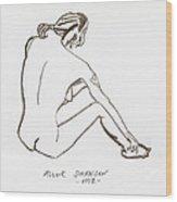 Live Nude Female No. 33 Wood Print