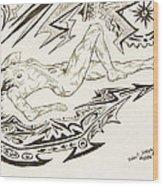 Live Nude Female No. 35 Wood Print