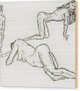 Live Nude Female No. 37 Wood Print