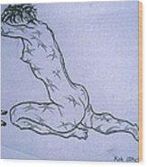 Live Nude Female No. 51 Wood Print