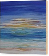 Lively Seascape Wood Print