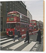 Liverpool Street Station Bus - London Wood Print