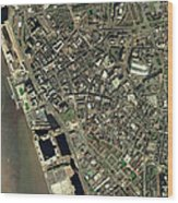 Liverpool, Uk, Aerial Image Wood Print