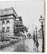 #liverpool #uk #england #rainy #rain Wood Print
