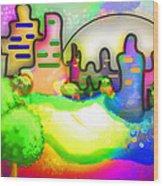 Living In Color Wood Print by Melisa Meyers