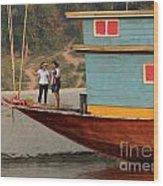 Living On The Mekong Wood Print