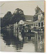 Livingston Manor - 1938 Flood Wood Print