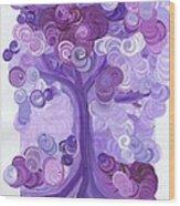 Liz Dixon's Tree Purple Wood Print