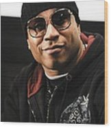 Ll Cool J At The Press Conference Wood Print