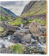 Llanberis Pass Wood Print by Adrian Evans