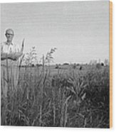 Lloyd Owens On His Farm Wood Print