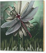 Ll's Dragonfly Wood Print