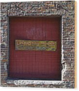 Loading Dock Door Wood Print