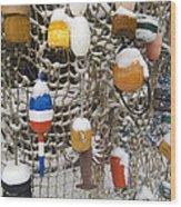 Lobsta Snow Net Wood Print