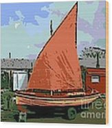 Lobster Boat Wood Print