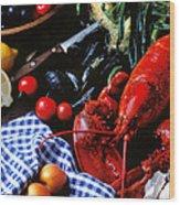 Lobster Wood Print