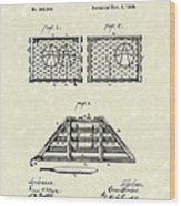 Lobster Trap 1888 Patent Art Wood Print