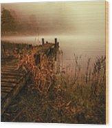 Loch Ard Early Morning Mist Wood Print by John Farnan