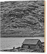 Loch Arklet Boathouse Wood Print