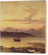 Loch Etive From Bonawe In The Evening Wood Print