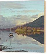 Loch Leven Moorings Wood Print