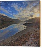 Loch Long As The Sun Sets Wood Print