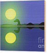 Loch Ness Sunrise Wood Print