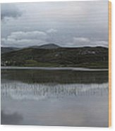 Loch Stack Boat House Wood Print