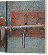 Lock And Latch Wood Print