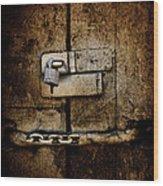 Locked Door Wood Print by Bobbi Feasel