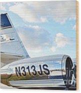 Lockheed Jet Star Wood Print