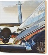 Lockheed Jet Star Side View Wood Print by Lynda Dawson-Youngclaus