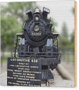 Locomotive 639 Type 2 8 2 Front View Wood Print