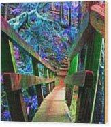 Log Bridges Wood Print