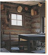 Log Cabin Wood Print