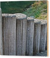 Log Handrail Wood Print