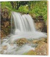 Logan Canyon Falls Wood Print